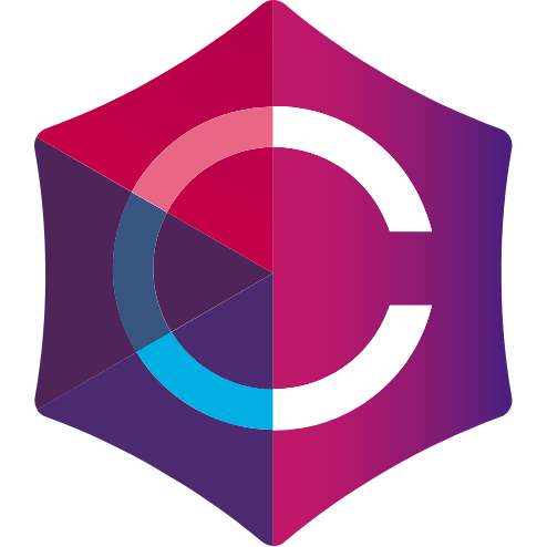 Multi-colored icon of the 'C' from the Crown Laboratories logo.